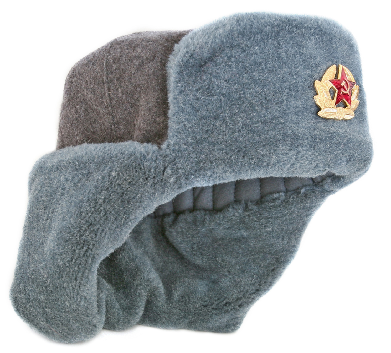 6116e92c61d55 Extra long earflaps winter hat Soviet Army soldier authentic ushanka ...