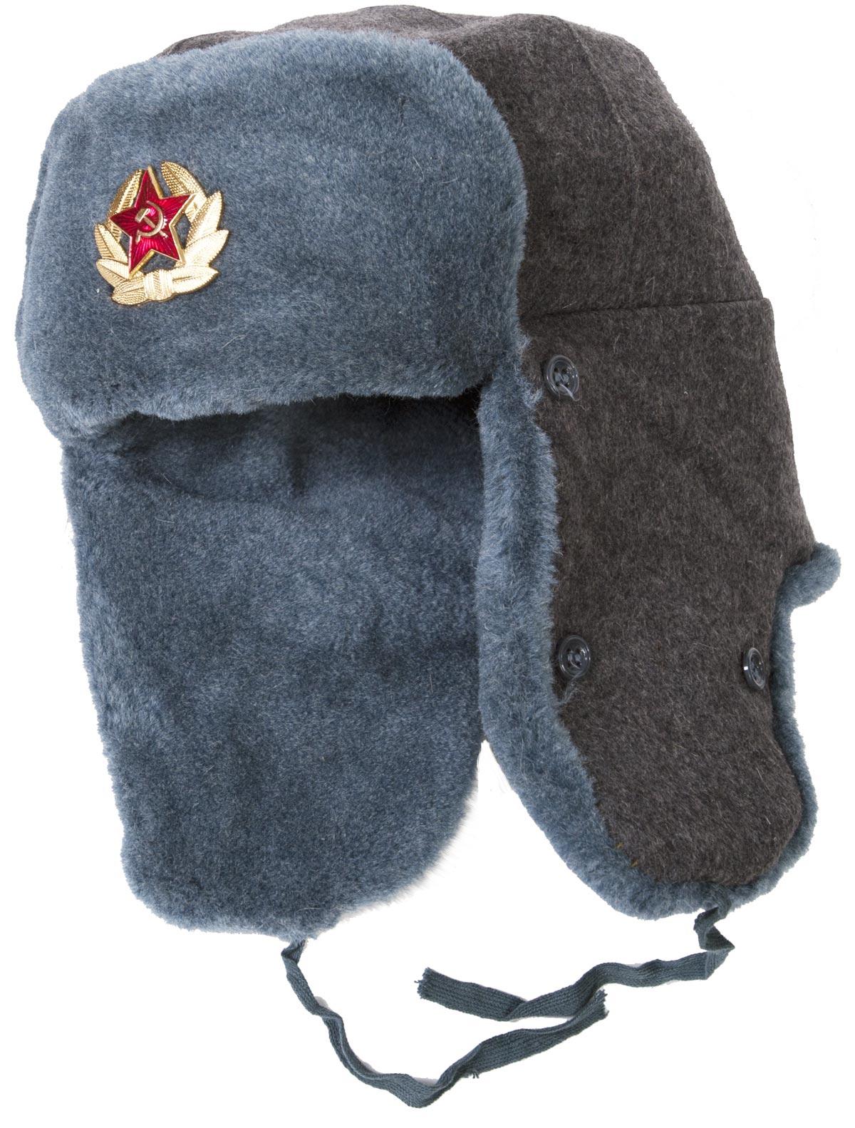 Soviet Army soldier surplus ushanka winter hat. Trapper ...