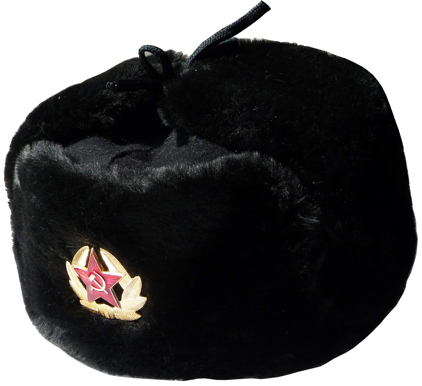681c85b0b7f Black. Russian Navy seaman winter hat Navy seaman ushanka inside. Winter hat  earflaps on top