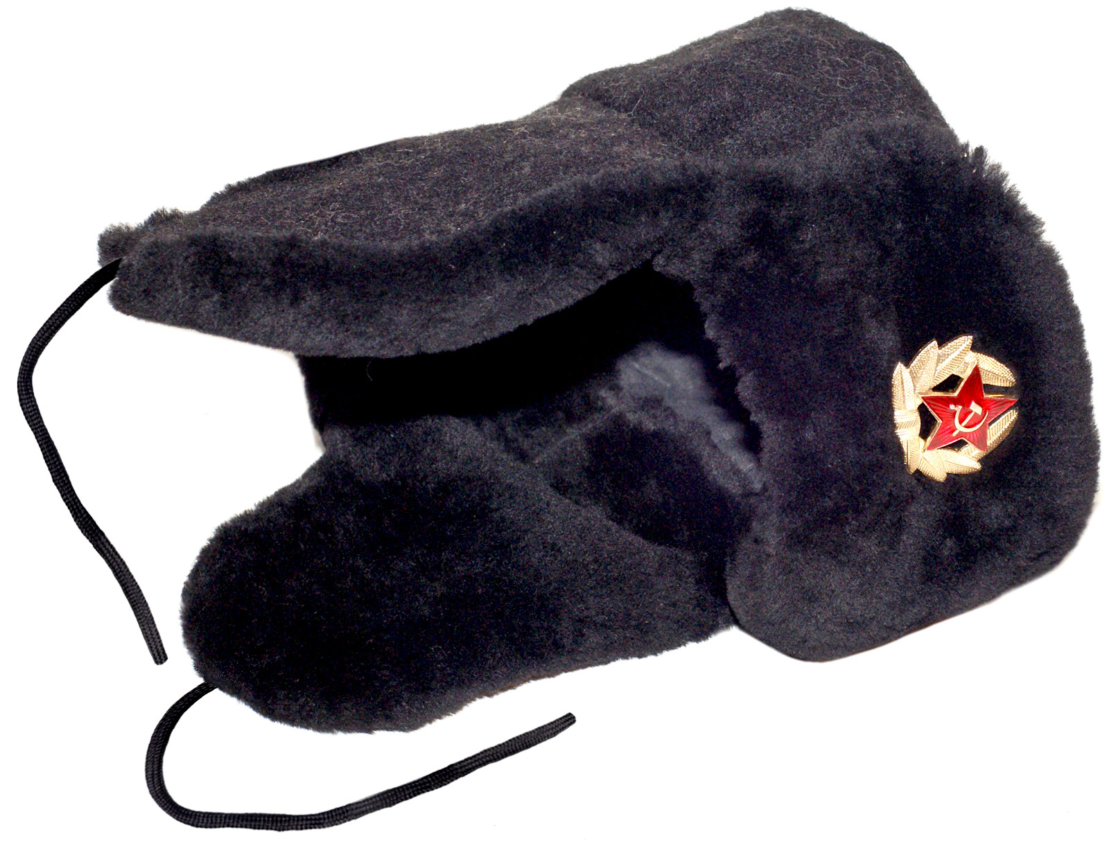 Russian sheepskin winter hat Sheepskin winter hat Navy officer mouton  ushanka ... d6d7e4814ac