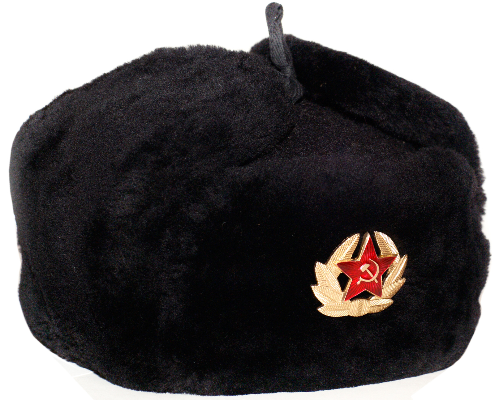 Russian Navy officer mouton ushanka hat. Black. 29b4137bd8e