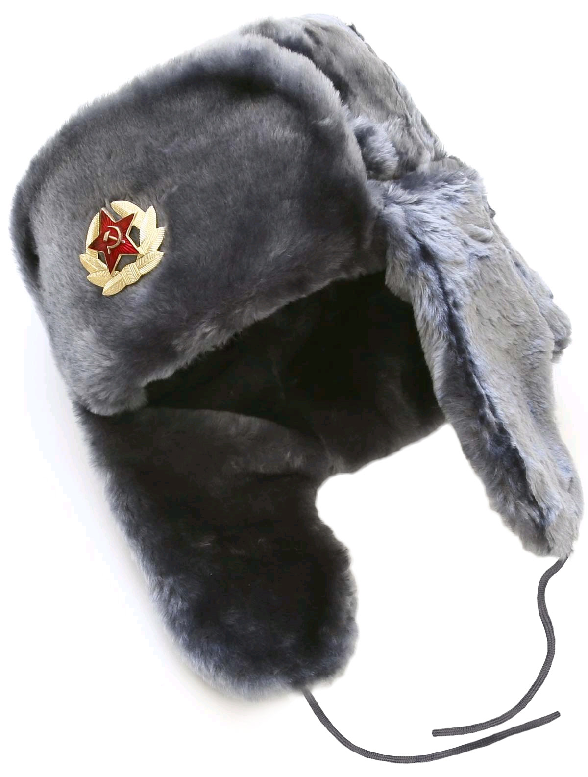 f39b1e34fbf Gray ushanka winter hat