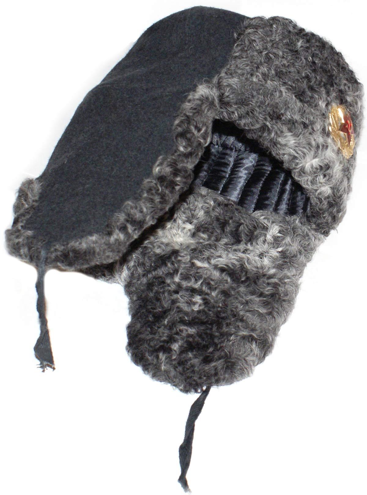 118f4e417 Karakul sheepskin ushanka. Gray.