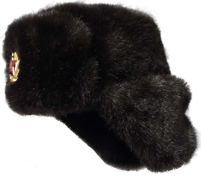 3cd7c0a7dae Winter hat with earflaps Mink fur Mink-like faux fur ushanka hat