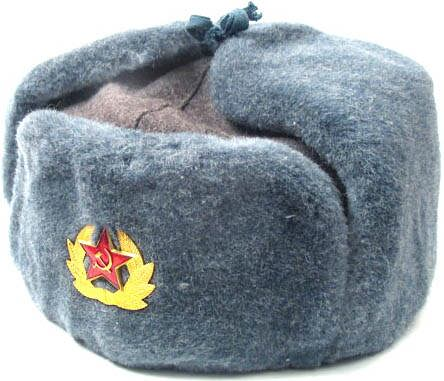 Soviet soldier Ushanka winter hat Ushanka Soldier
