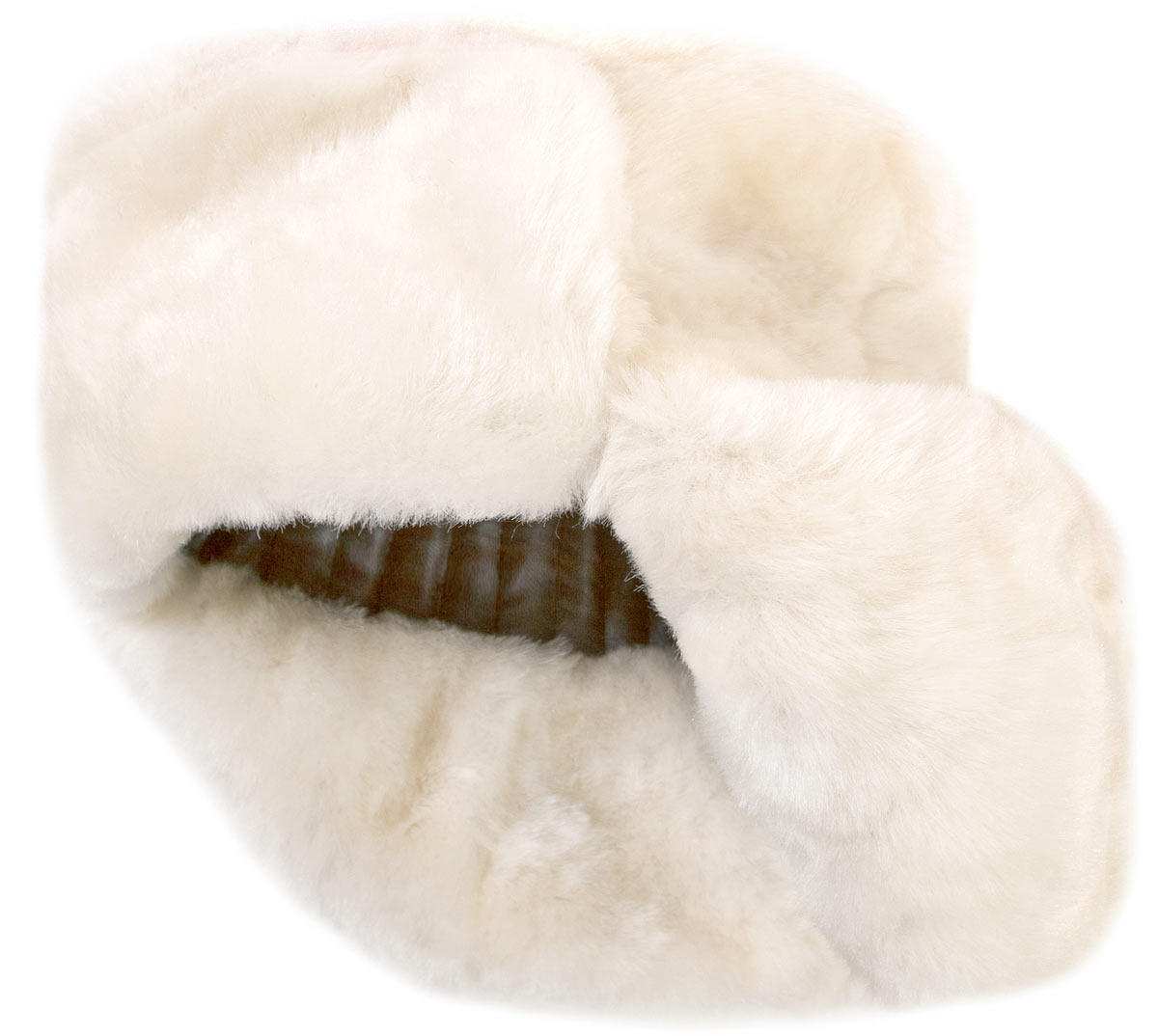white sheepskin lambskin russian winter hat ushanka