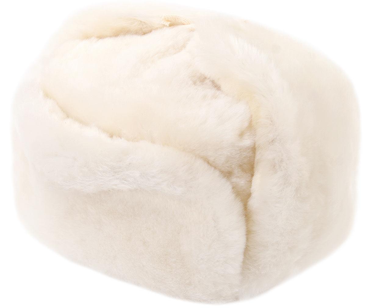 White sheepskin ushanka f0c7e6cda233