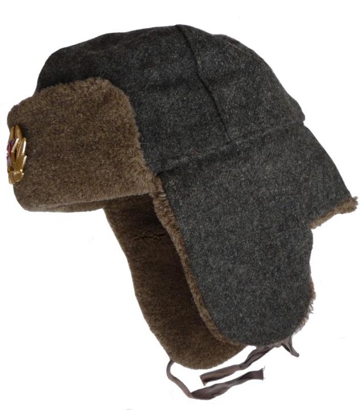 f76600477ae60 Bulgarian army soldier winter hat - Soviet WW2 model.