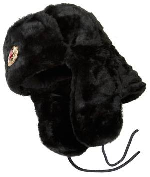 Black fur ushanka