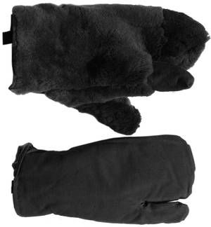 Black canvas black fur