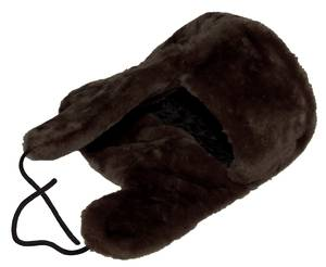 Dark brown faux fur hat