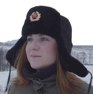 Russian sheepskin winter hat