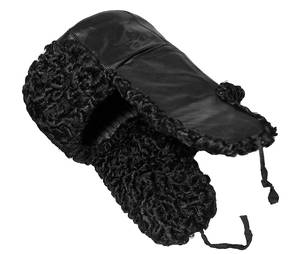 karakul leather ushanka
