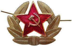Soviet Army soldier hat insignia