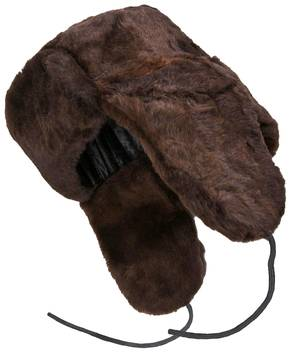 Brown sheepskin ushanka